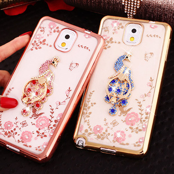 Luxury Glitter Bling Case For Samsung Galaxy S8 Plus S9 S7 S6 edge Coque Fashion Flower Cute Soft TPU Ring Cover Note 9 7 5 4 3